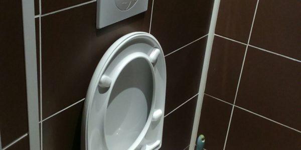 Pose de WC suspendus