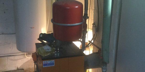 Remplacement d'une chaudière mazout par une chaudière gaz condensation.AVANT